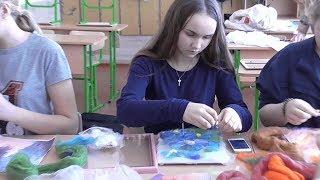 Живопис шерстю. Картини руками учнів школи №3. Надвірна 2017