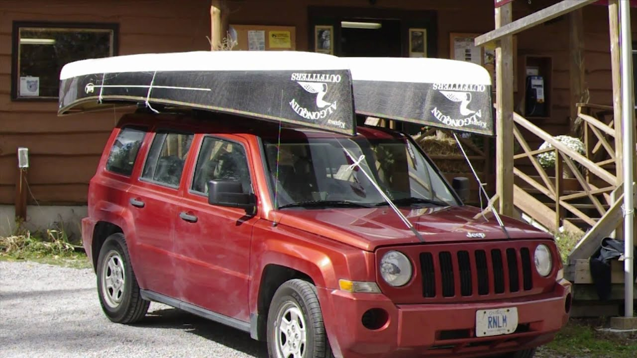 How To Load Two Canoes On Your Vehicle Youtube
