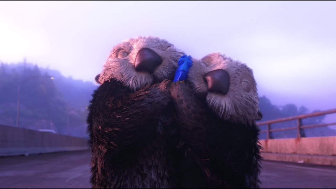 Otter Cute Wallpaper Quot Cuddle Party Quot Clip Finding Dory Youtube