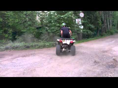 Дрифт на квадроцикле Sym Quadlander 200