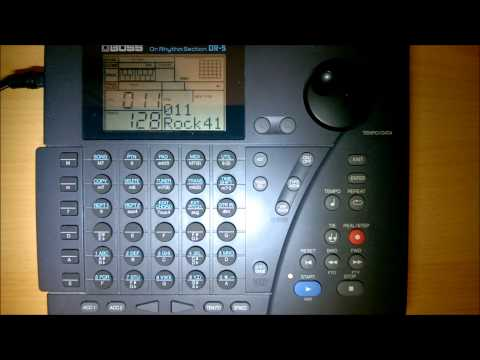 Boss Dr. Rhythm Section DR-5 - A short demo showing the first 20 rock backing presets