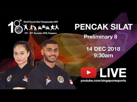 Pencak Silat Match Prelim 8 (Day 2 Arena 2) | 18th World Pencak Silat Championship 2018