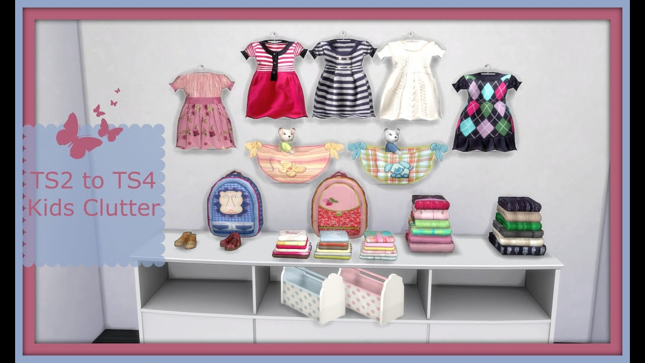 Sims 4 Ts2 To Ts4 Set Suza Baby Kid Clutter Youtube