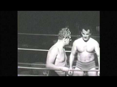 Lord Leslie Carlton vs Juan Sepeda 1950's TV professional Wrestling From Holloywood