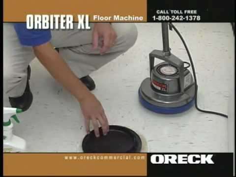 Oreck Commercial Orbiter Floor Machine Vinyl Floor