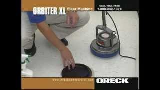 Oreck Commercial Orbiter Floor Machine Vinyl Floor Cleaning