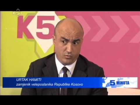 URTAK HAMITI 5 MINUTA INTERVIEW KANAL 5 TV