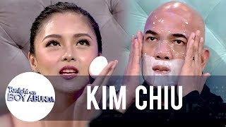 Kim teaches her skincare routine to Tito Boy | TWBA
