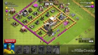 Clash of clans: batalhando e a mostrando minha conta!!!