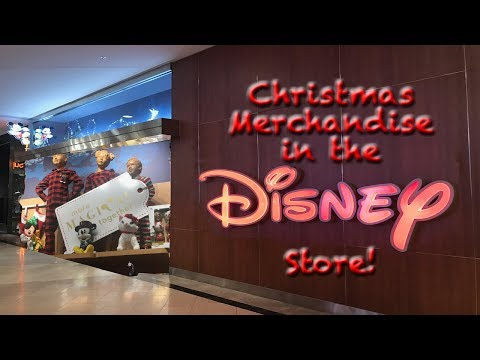 Christmas Merchandise in the Disney Store!
