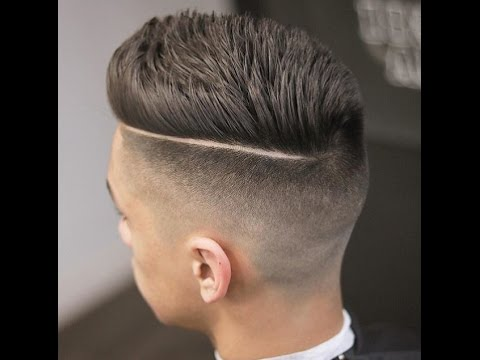 comb over with fade - cut