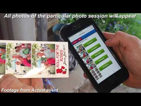 PTBooth A1 PRO Transfer App in action