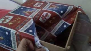 Dachshund Mimi Opening Christmas Present