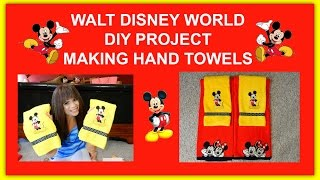 DISNEY THEME BATHROOM MAKING HAND TOWELS