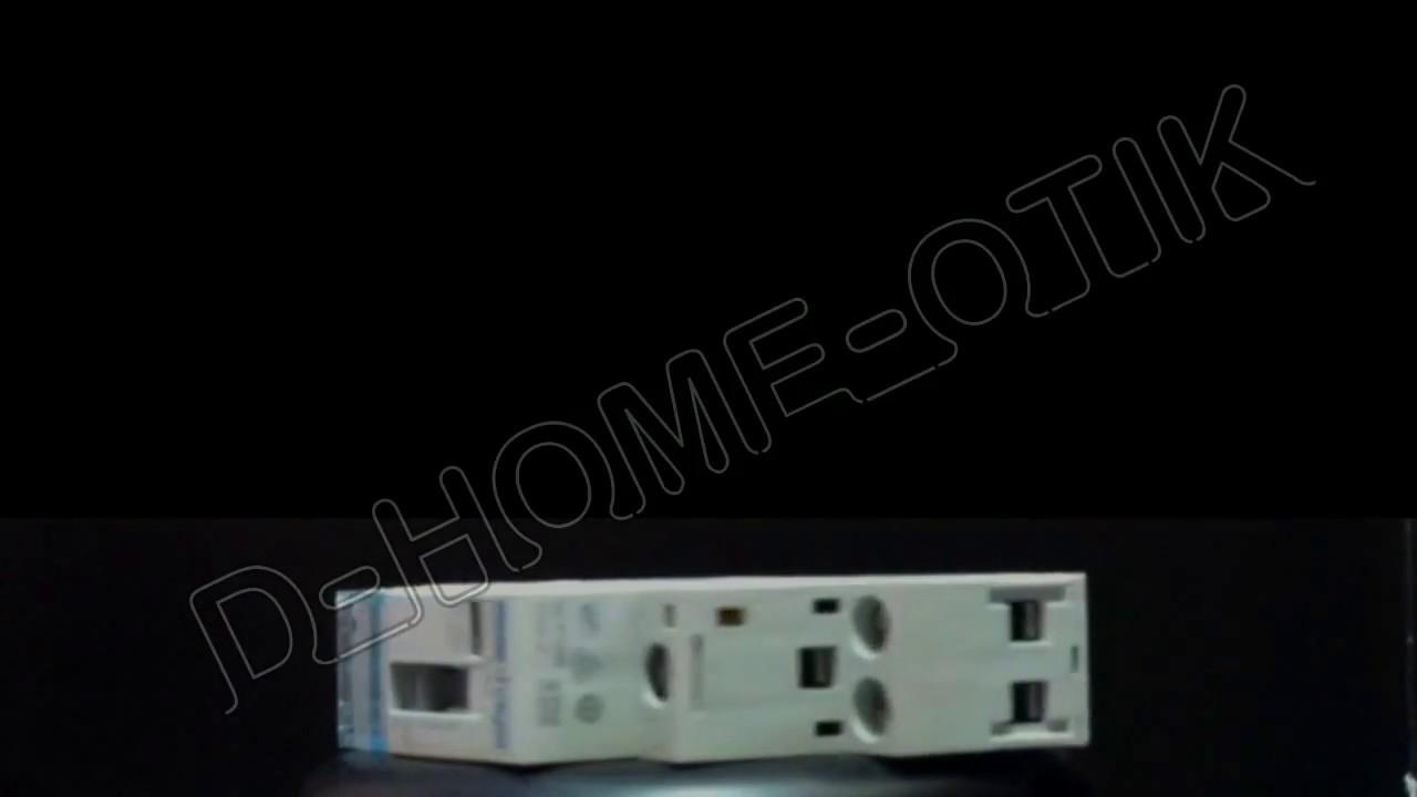 contacteur cde manu 25a 2f 230v erc225 hager sur d home. Black Bedroom Furniture Sets. Home Design Ideas