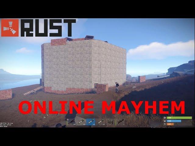 Rust Clan Wars - Raiding A Massive Circle Base (Its Pretty Big)