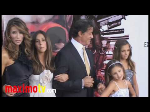 """Sylvester Stallone and Family at """"The Expendables"""" Premiere"""