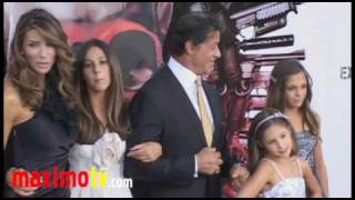 "Sylvester Stallone and Family at ""The Expendables"" Premiere"