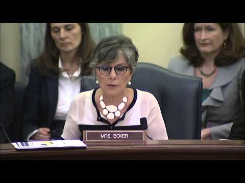 Senator Boxer Presses E-Cigarette Companies on Marketing of Products to Children