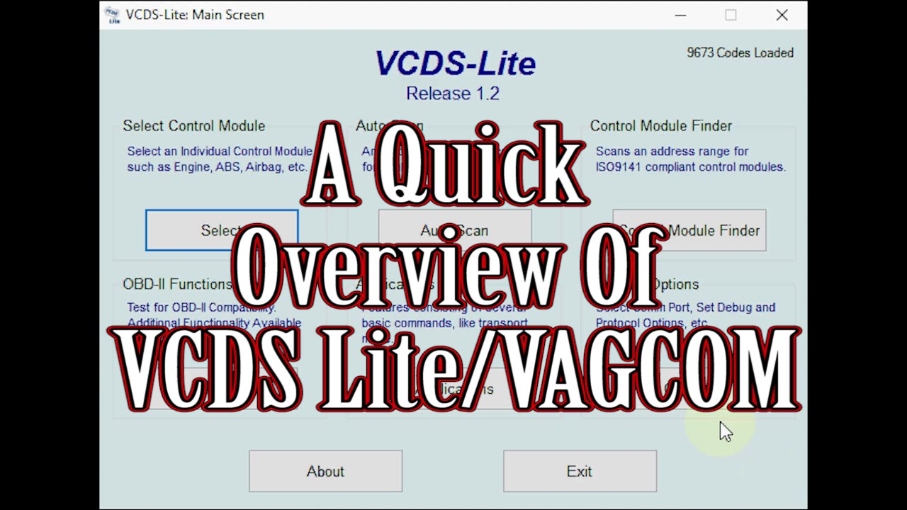 A Quick Overview of VCDS Lite/VAGCOM