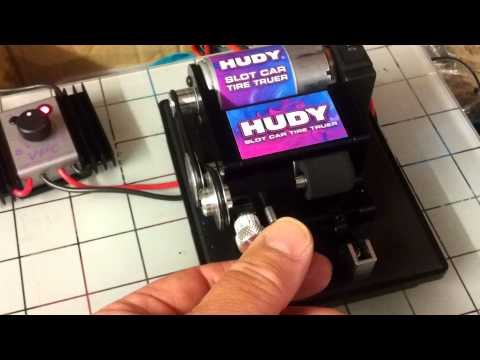 Hudy Slot Car Tyre Truer powered by 12v MRT Power Supply