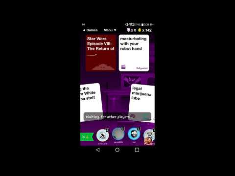 Evil Apples a mobile version of cards against humanity
