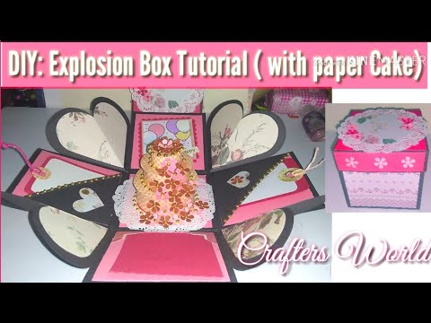 DIY: Explosion Box Tutorial ( with Paper Cake) / How to make Explosion Box