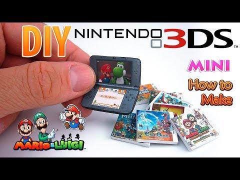 DIY Miniature Nintendo 3ds New | DollHouse | No Polymer Clay!
