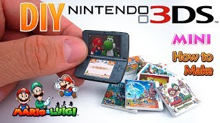 DIY Miniature Nintendo 3ds New | DollHouse | No Polymer Clay!