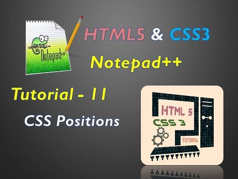 How to use CSS positions for designing the website explained in telugu TUTORIAL - 11