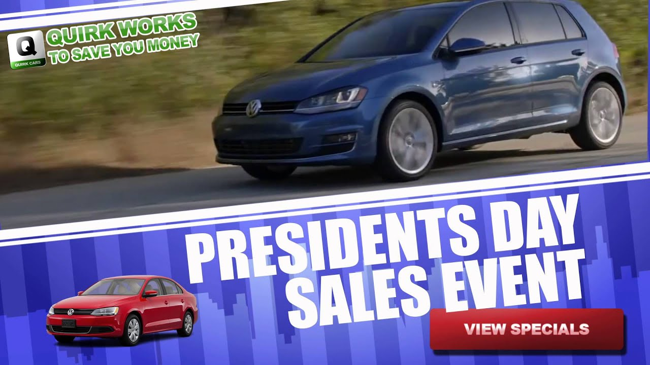 Quirk VW NH Presidents Day Sale - Manchester NH - YouTube
