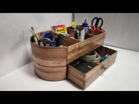 DIY Desk Organiser | Best out of waste | Craft Nifty Creations