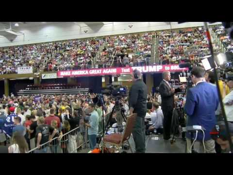 RSBN Showing the Crowd at the Donald Trump Rally in Asheville, NC 9/12/16