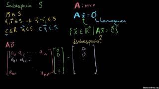 Introducción al espacio nulo de una matriz
