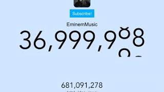 EminemMusic hits 37 milions subscribers
