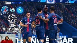 Meci Superb Cu 5 Goluri In Uefa Champions League - PSG vs Napoli - ...
