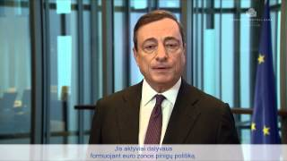 Welcome lithuania - video message by mario draghi, president of the european central bank