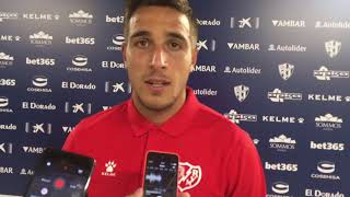 Óscar Trejo tras el SD Huesca 0-1 Rayo Vallecano