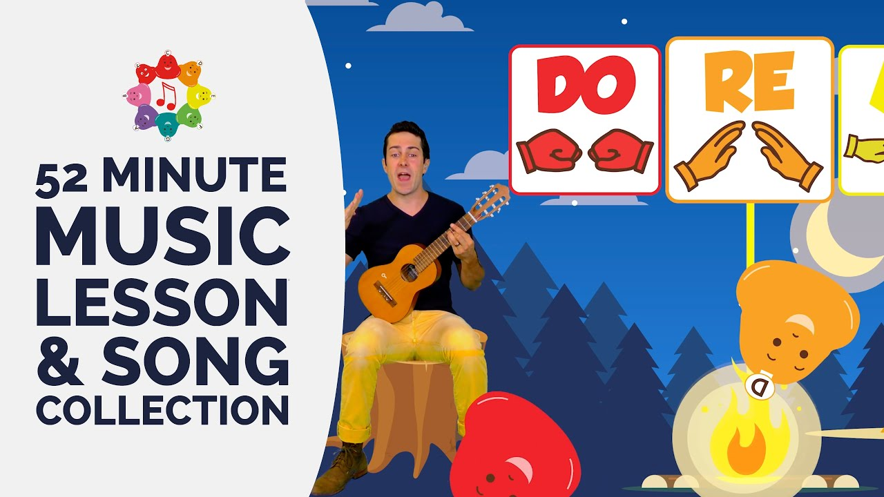 Music Lesson & Song Collection - Solfege, Rhythm, Baby Shark, Jingle Bells, Hot Cross Buns &