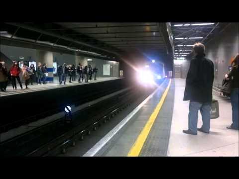 London Overground Train Service at Canada Water Tube Station London Underground
