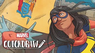 Artist Ian Herring colors Ms. Marvel – Marvel Quickdraw