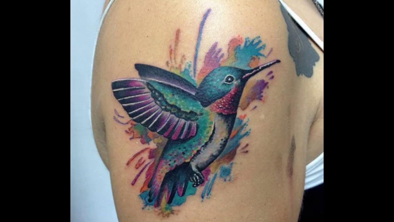Красивые татуировки с колибри