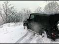 Гелик по снегу. Попытка поднятся на гору  Гелендваген!