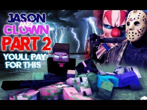 Monster School : Season 3 Jason & Clown (MY TURN) PART 2 - Minecraft Animation