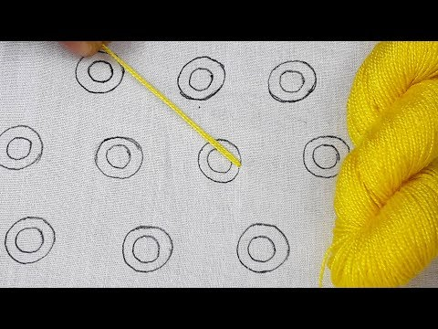 Turkey Work all over design for dress || Latest hand embroidery all over design stitching tutorial