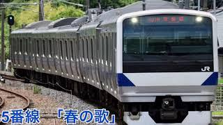 いわき駅 5(6)番線 発車メロディ 「春の駅」 旧放送 [高音質・密着]