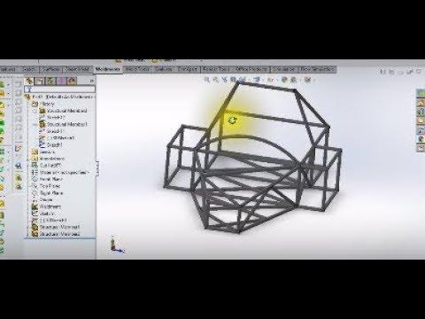 Formula 1 chasis design in solidworks