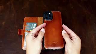 Blackbrook by Burkley iPhone 12 Pro Max Carter Magnetic Detachable Wallet Case in Burnished Tan