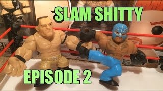 GTS SLAM SHITTY!! WWE Slam City cartoon parody Mattel Wrestling Figures