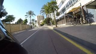 Palma de Mallorca - 4K Test video - Riding my Yamaha T-Max 500 - GoPro Hero4